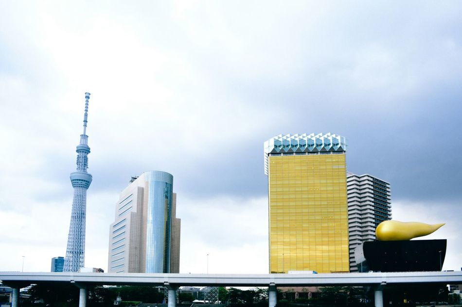 The gloomy Tokyo and its group of iconic towers. Travel Destinations Tokyo Sky Tree Built Structure Skyscraper Tower Building Exterior Urban Skyline Cityscape Tokyo,Japan Tokyoskytree Travel Photography