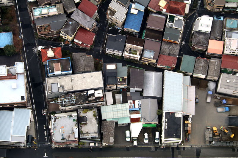 Crammed From Above  High Angle View Little Rooftops Streets Tokyo Tokyo,Japan Mix Yourself A Good Time