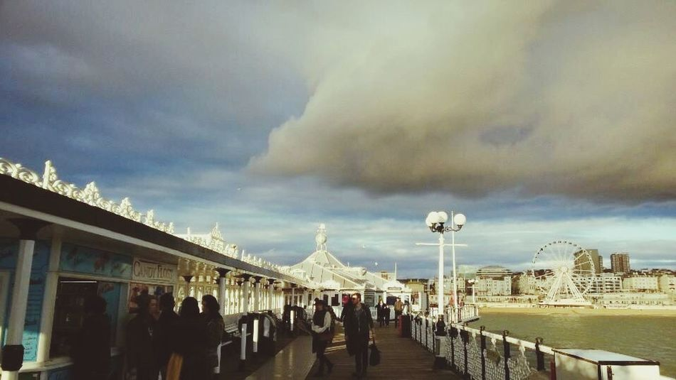 Brighton Pier Stormy Skies Weekend Getaway Cloud - Sky Tourism Leisure Activity Outdoors Fish And Chips... Brighton Rock