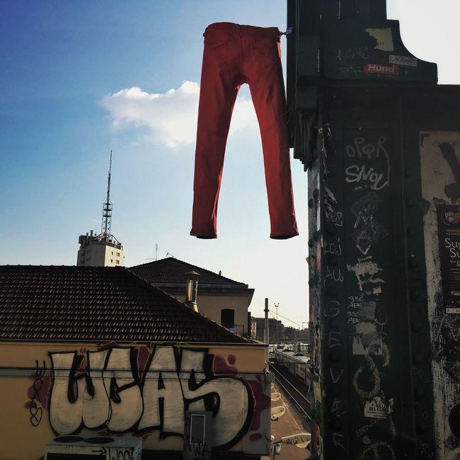 Streetart Streetart/graffiti Jeans Red Portagenova Milan Italy Art Point Delacruzfotografia David De La Cruz