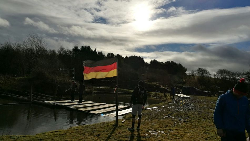 England Wolverhampton Toughguyrace 2017 Tough Race Sport Hard Strong Flag Patriotism Sky Germanflag Germany🇩🇪