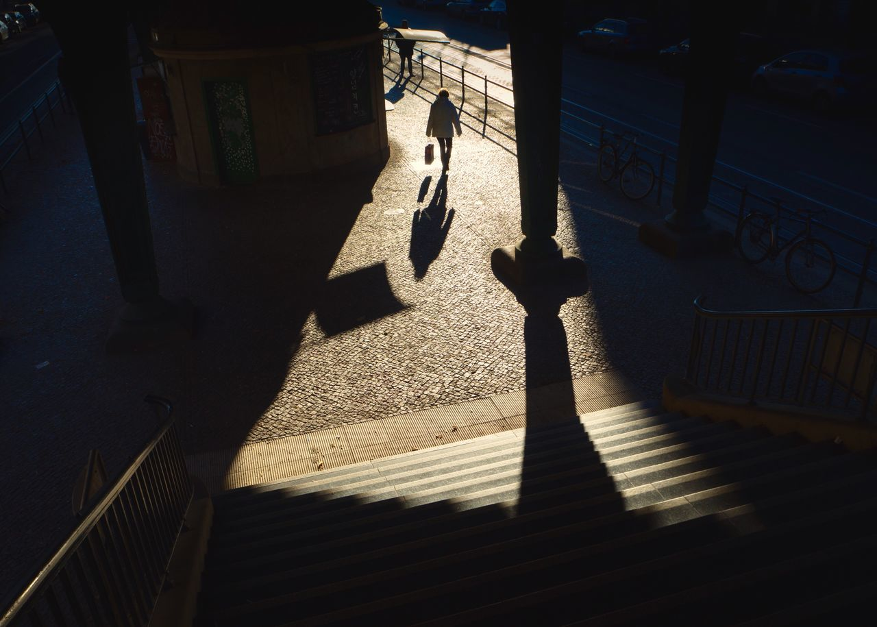 The Street Photographer - 2017 EyeEm Awards My Eyes My Berlin You & You Shadow Sunlight High Angle View Focus On Shadow Real People Urban Exploration EyeEm Masterclass Architecture EyeEm Best Shots Urban Geometry My Eyes For Architecture