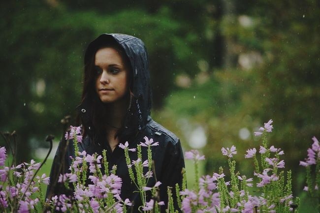 Rainy Daze. Rain Nature Model Flowers Outdoors Expression Canon Canon70d Beauty In Nature Focus On Foreground Symbol