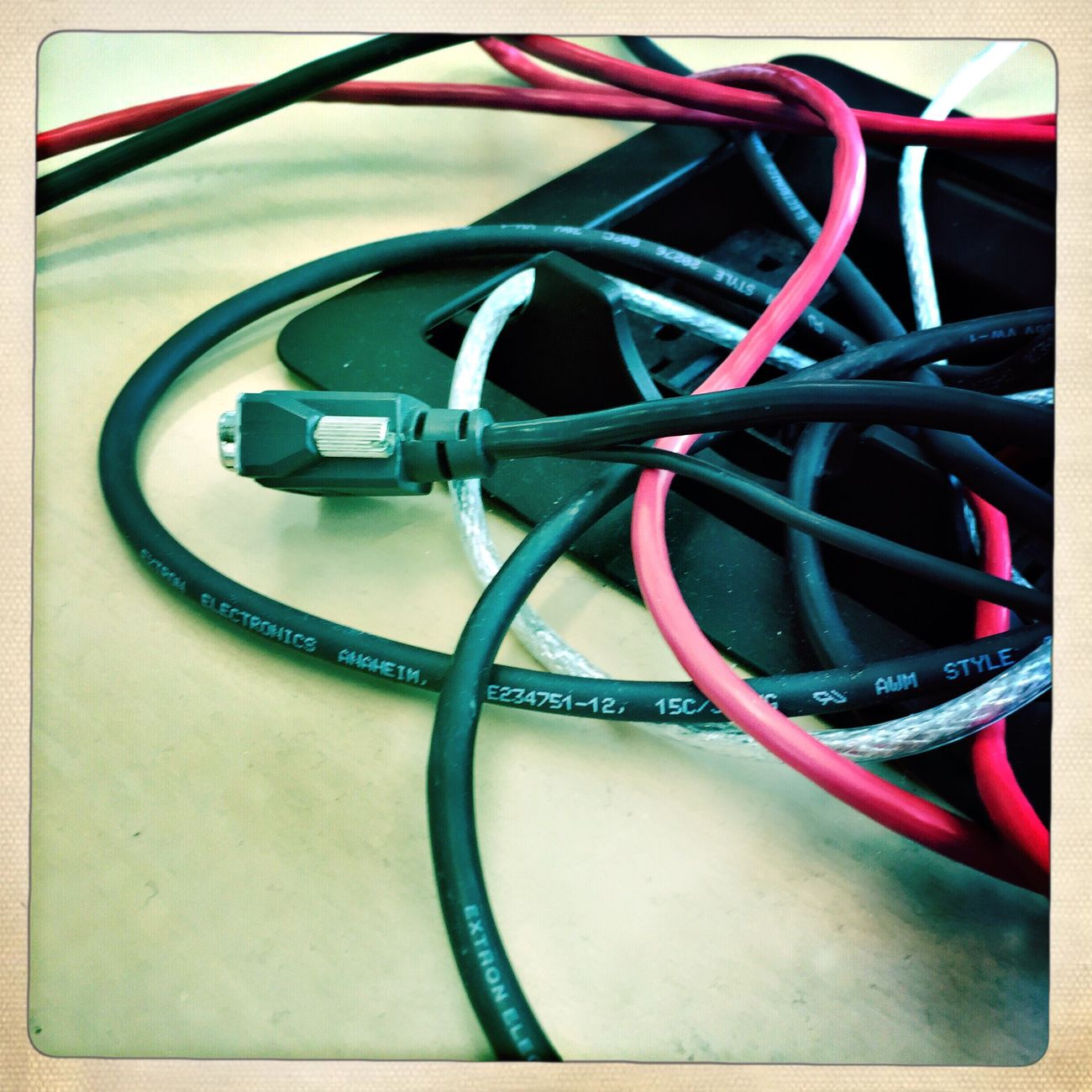 Digital Snake Pit Wires Cords Hipstamatic IPhoneography Iphone 6 Artistic Photo Photooftheday Work