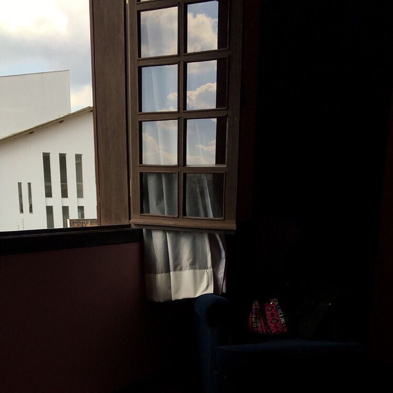 Home Hometown Reflections Blue Sky Wooden Window Childhood Home Brazil View