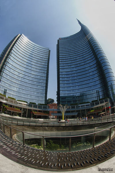 Milan Milano Architecture Building Exterior Built Structure City City Life Gai Aulenti Place No People