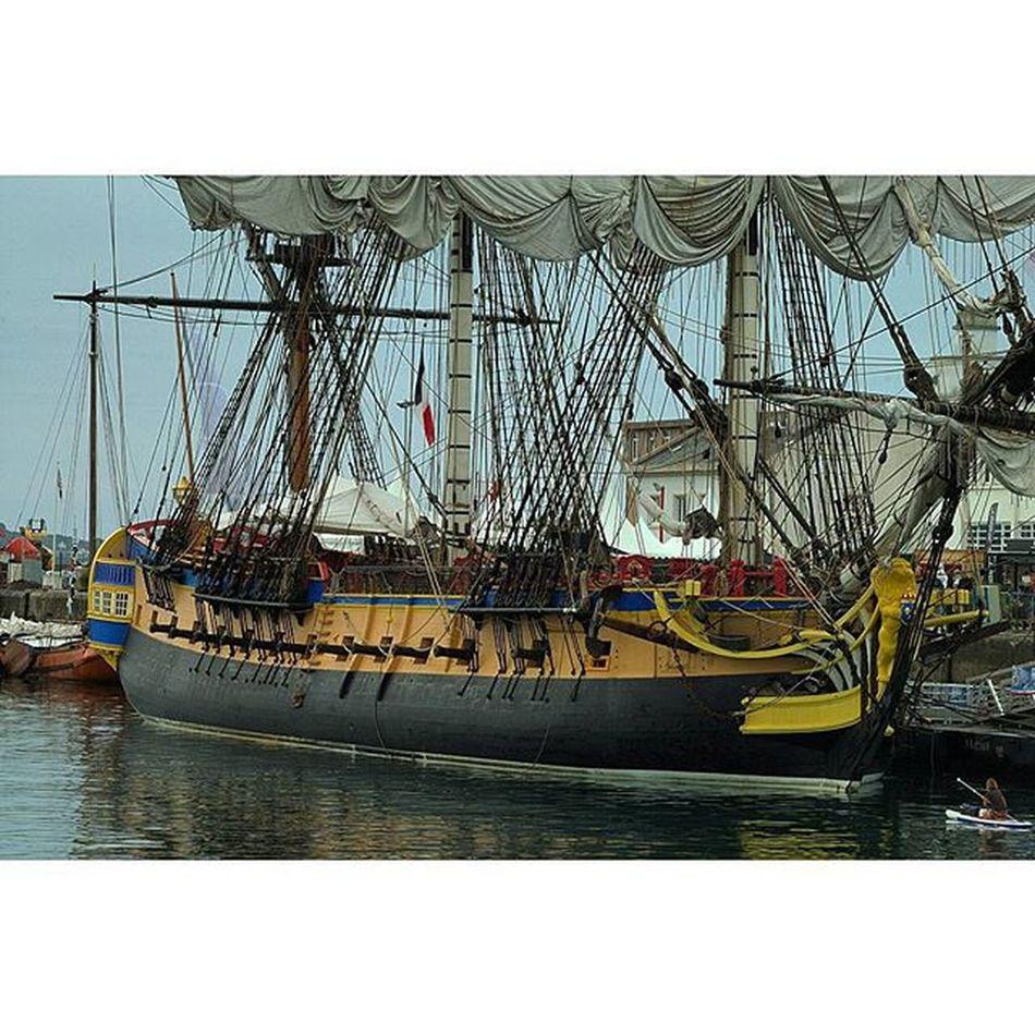 l'Hermione, plan large Hermione Fregate Port Brest bretagne finistere igersbretagne igersfinistere grainedenature