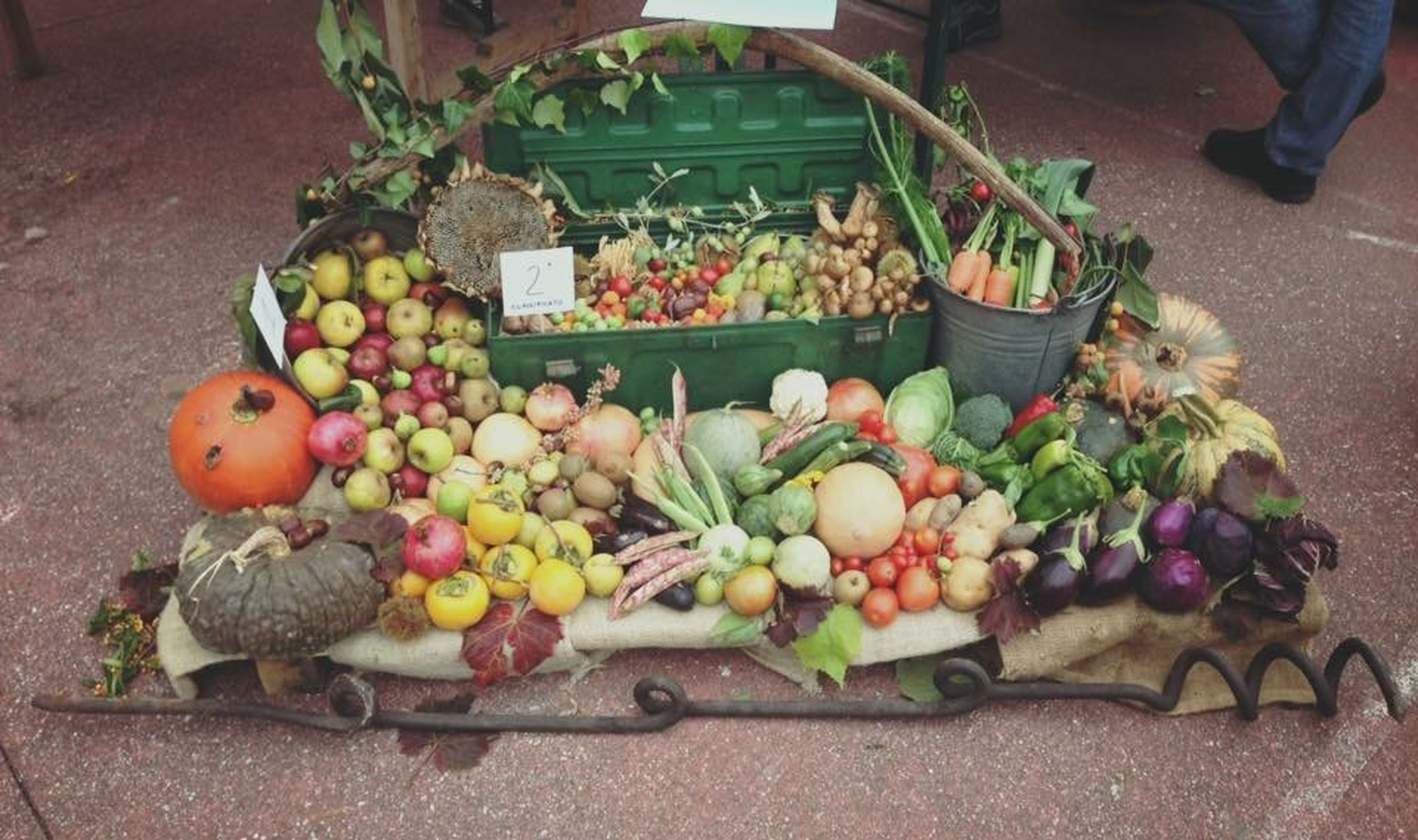 food and drink, food, healthy eating, freshness, fruit, vegetable, potted plant, high angle view, variation, table, basket, market, retail, plant, large group of objects, indoors, for sale, market stall, choice, leaf