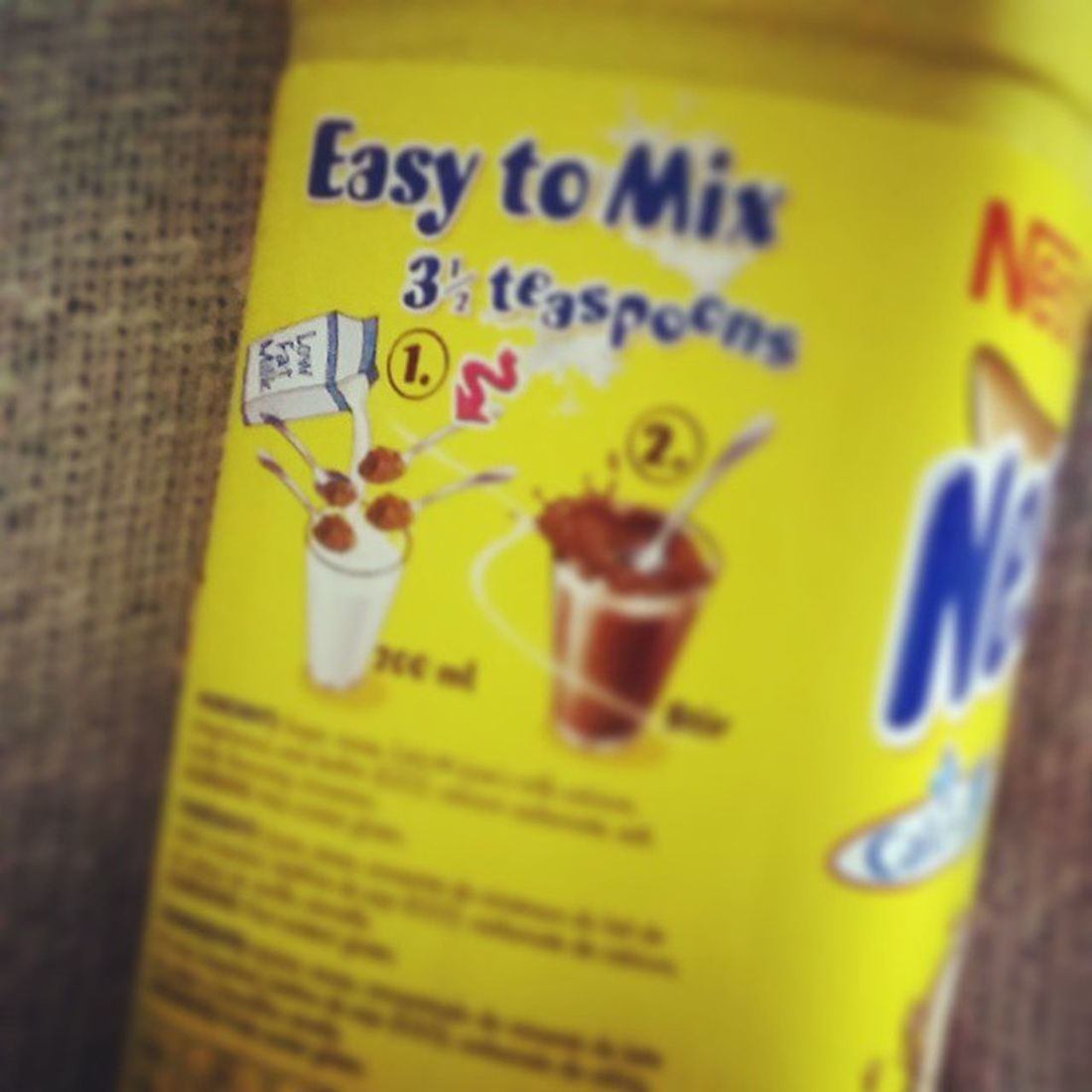only allowed to mix Nesquik with Lowfatmilk