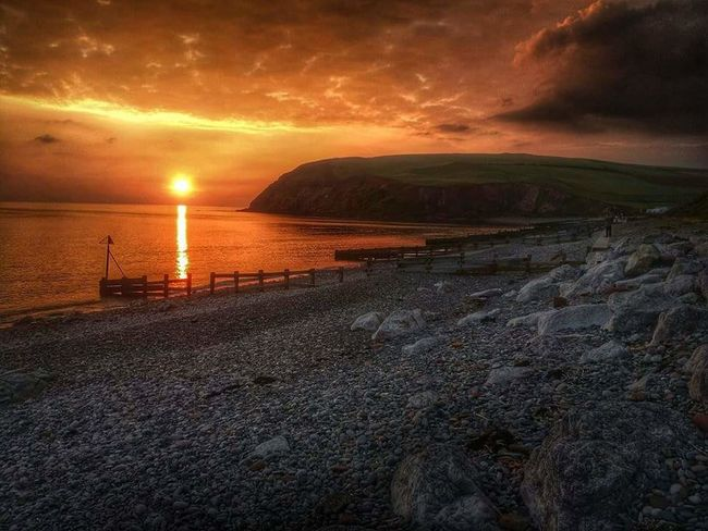 Water Sunset Sea Tranquil Scene Beauty In Nature Beach Shore Seascape Sunset_collection Beachphotography Seascape Photography Sunset Silhouettes Coastline Cliffsandsea Cliffview St Bees Beach