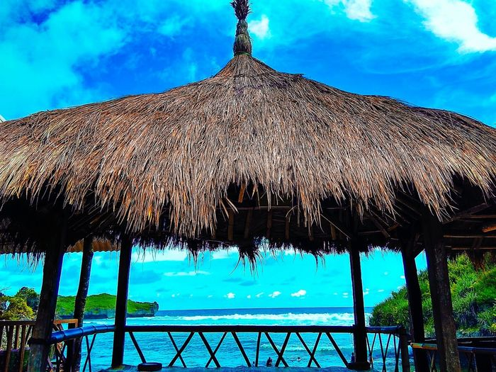 The gazebo on the beach Sky Clouds And Sky Sky And Clouds Gazebo Gazebos Gazebo On The Beach Blue Sky Beach Beach Photography Krakal Beach Yogyakarta KrakalBeach Krakal Gunung Kidul, Yogyakarta Tourism Destination Tourism Indonesia Tourist Destination Beach View