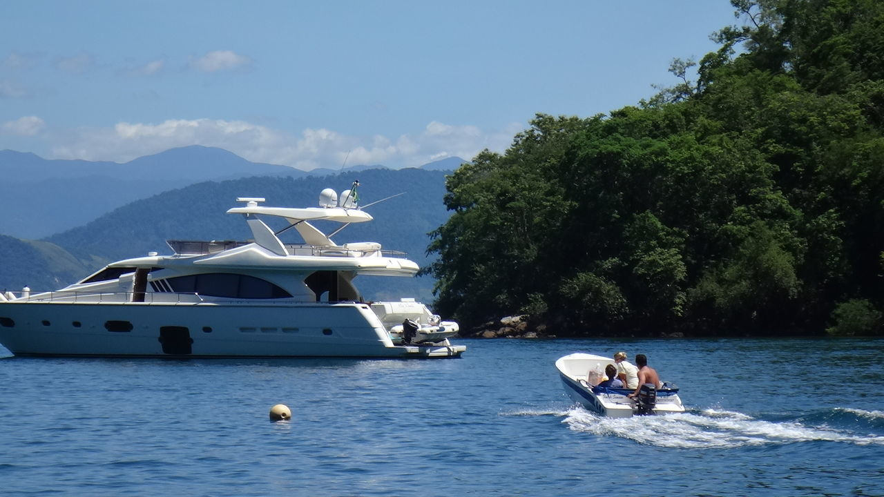 ANGRA DOS REIS RIO DE JANEIRO BRAZIL Boat Day Elevated View Enjoyment Mode Of Transport Moored Motorboat Nature Nautical Vessel No People Outdoors Recreational Pursuit Rope Rowboat Transportation Travel Vacation Vacations Water Weekend Activities