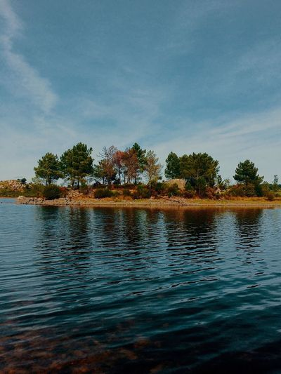 Autumn is setting in. Island Fall Colors Water Water Reflections Autumn Beauty In Nature Autumn Colors Tranquility Nature Trees North Portugal Hiking Hiking Adventures
