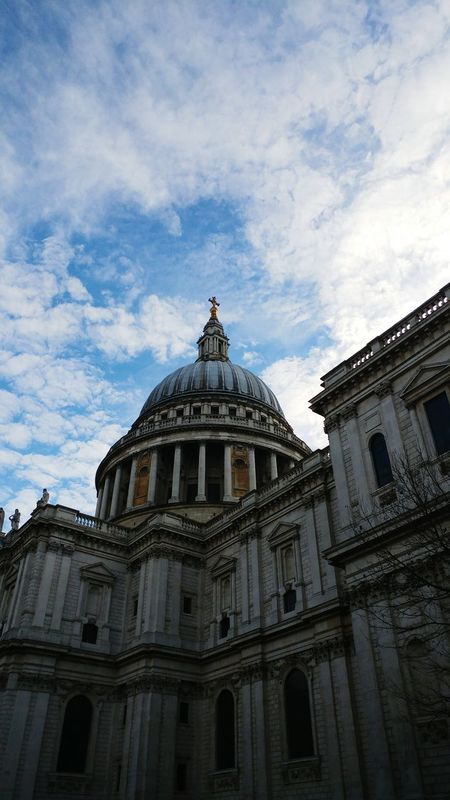 Architecture Built Structure Building Exterior Sky Low Angle View Travel Destinations Government No People City Cloud - Sky Outdoors . Day St Pauls Cathedral