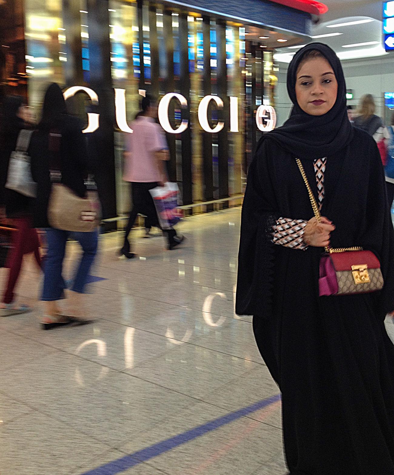 Gucci in Dubai Fashion GUCCI Modest My Year My View Streetfashion Streetphotography Woman