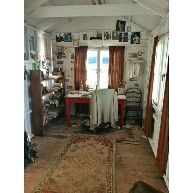 The writing shed. Laugharne DylanThomas Wales History Poetry Cadw
