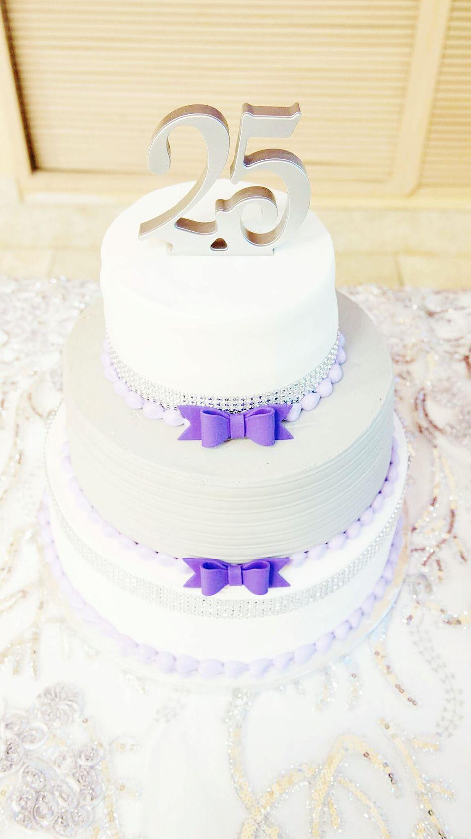25th Wedding Anniversary Cake Wedding Celebration Party - Social Event Wedding Cake