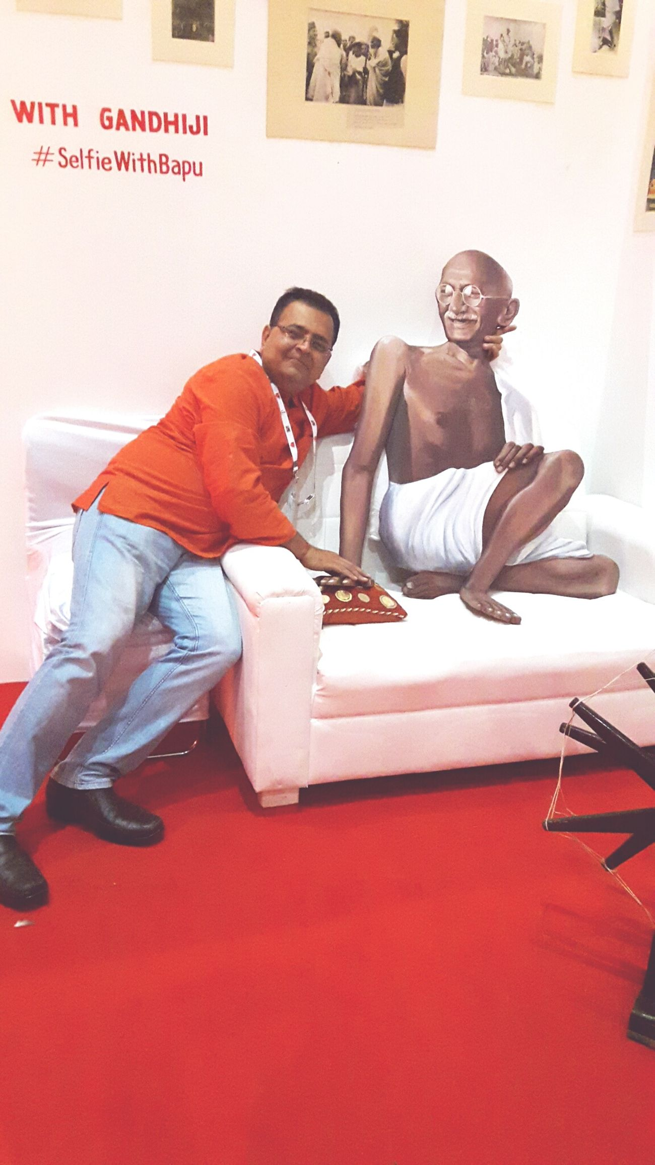 Selffie with Bapu First Eyeem Photo