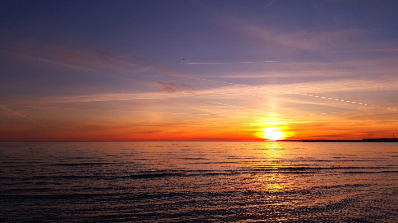 Sunset at östra Stranden, Halmstad, Sweden Landscape Ocean Beach