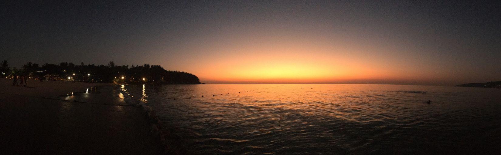 Thailand, Phuket Sea And Sky Sunset