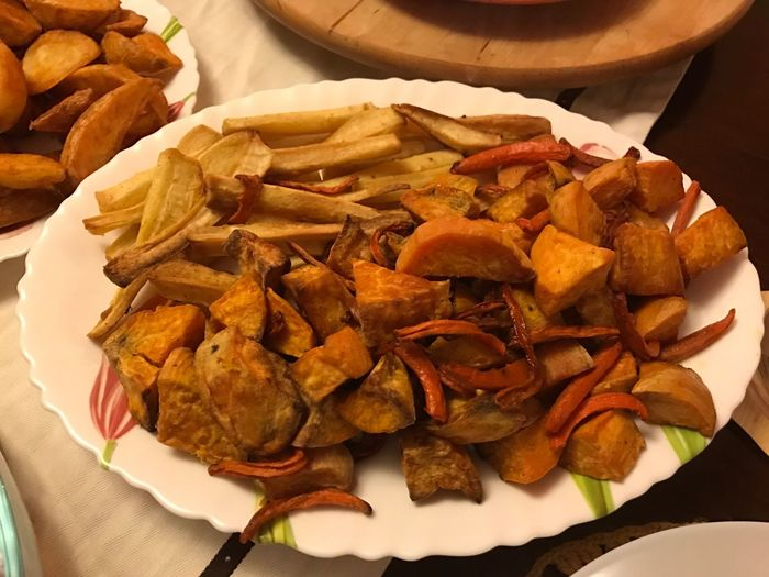 Roast Vegetables Roast Sweet Potatoes Food And Drink Food Freshness Ready-to-eat Still Life Indoors  Plate Serving Size Close-up No People Day