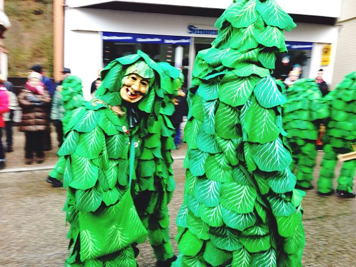 Fasent Fastnacht Schwarzwald Green Color Real People Hooded Shirt Day Looking At Camera Portrait Outdoors