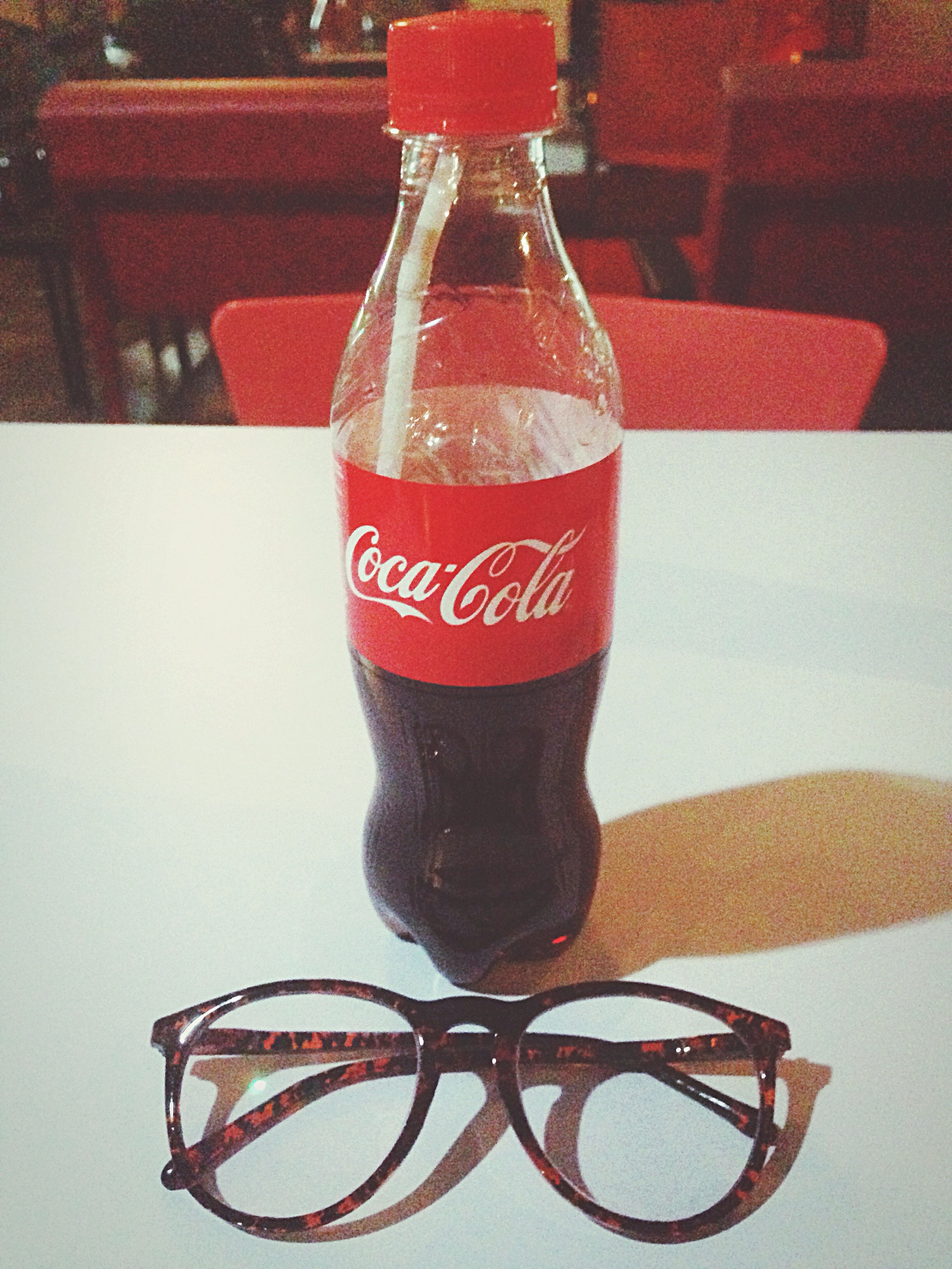 Coca Cola Cocacola Table Indoors  Drink Refreshment Freshness EyeEmNewHere The Architect - 2017 EyeEm Awards