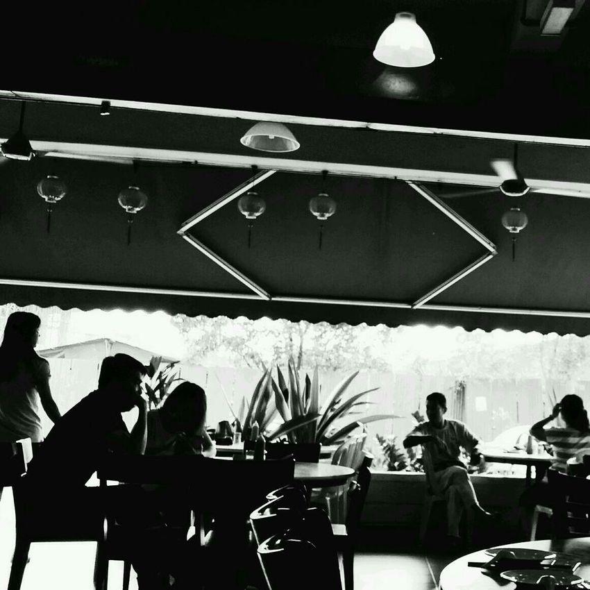Local Coffee Shop  Johore Bahru Breakfast Blackandwhite Photography
