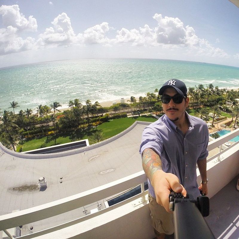 I went Pro! Goproblackedition Selfie Sky Miamibeach CLOUDS SEA BEACH FONTAINEBLEAUMIAMIBEACHHOTEL USA