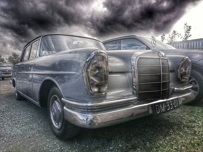 Transportation Land Vehicle Cloud - Sky Outdoors Dramatic Sky Mercedes-Benz Merc Mercedes Classic Car Eye4photography  Chrome Chrome Sweet Chrome Mode Of Transport Classic Elegance Classic Beauty Times Gone By Times Past Classic Benz Classicchrome Old-fashioned Old But Awesome