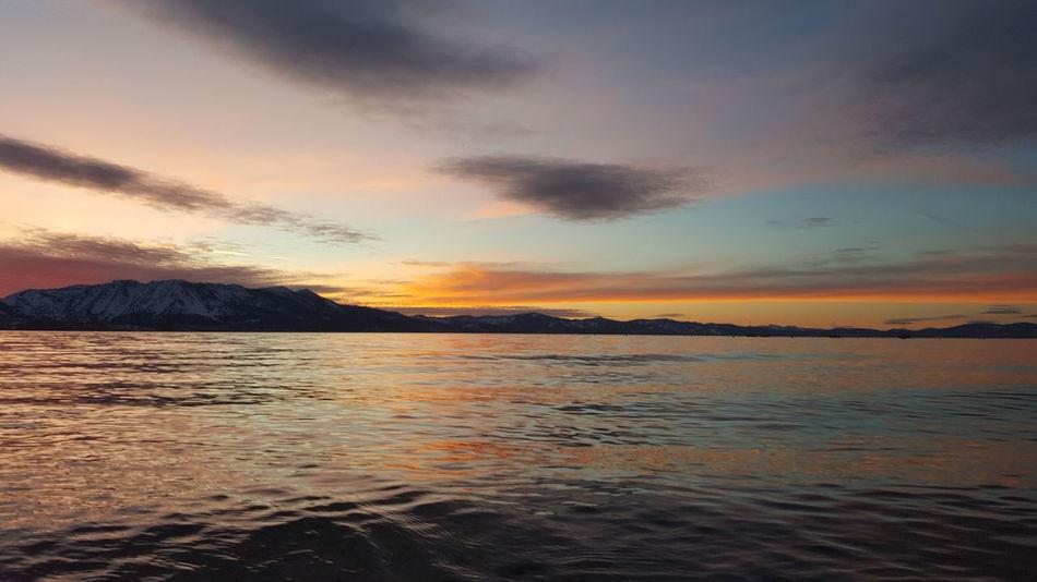 Sunset Beauty In Nature Cloud - Sky Landscape Beach Water South Lake Tahoe Untouched Beauty WokeUpLikeThis EyeAmNewHere Eyeemphotography EyeEm Nature Lover Lake Tahoe, Nv Lake Tahoe, Ca Sky Sand Dramatic Sky Reflection Perfection Mountain Colors Nature Lake Tahoe Bliss Lake