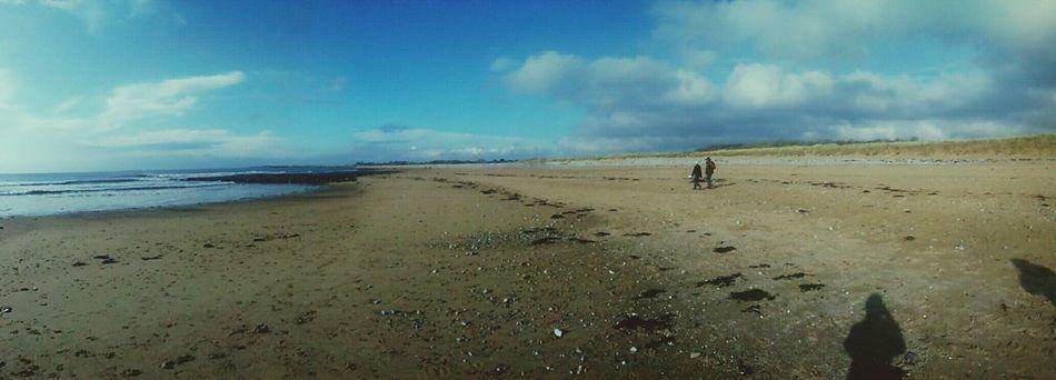 Panorama of Newton Beach yesterday. Beach Blue Sky Panorama