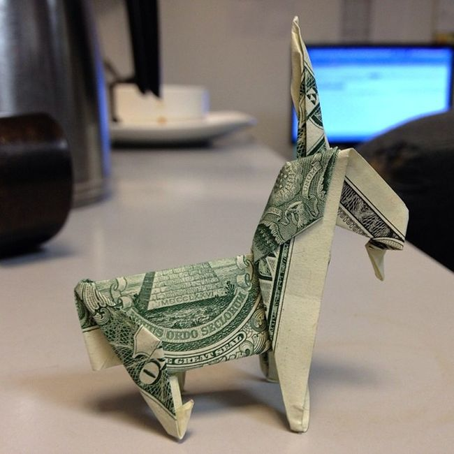 He claimed it was a unicorn.. I dunno about you, but I see a goat. Origami Foldme Makemeabikeclown Animeoasis
