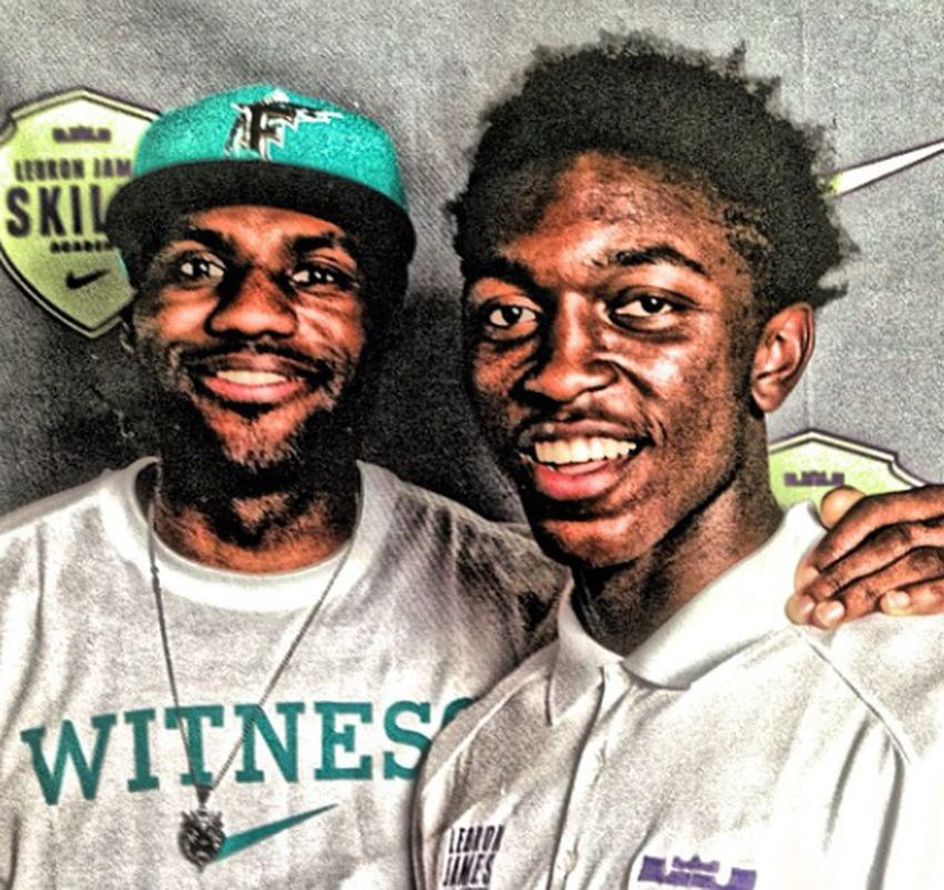 me and the GOAT. Honored to have attended his camp this summer. Basketball Hanging Out 2k Lebron James