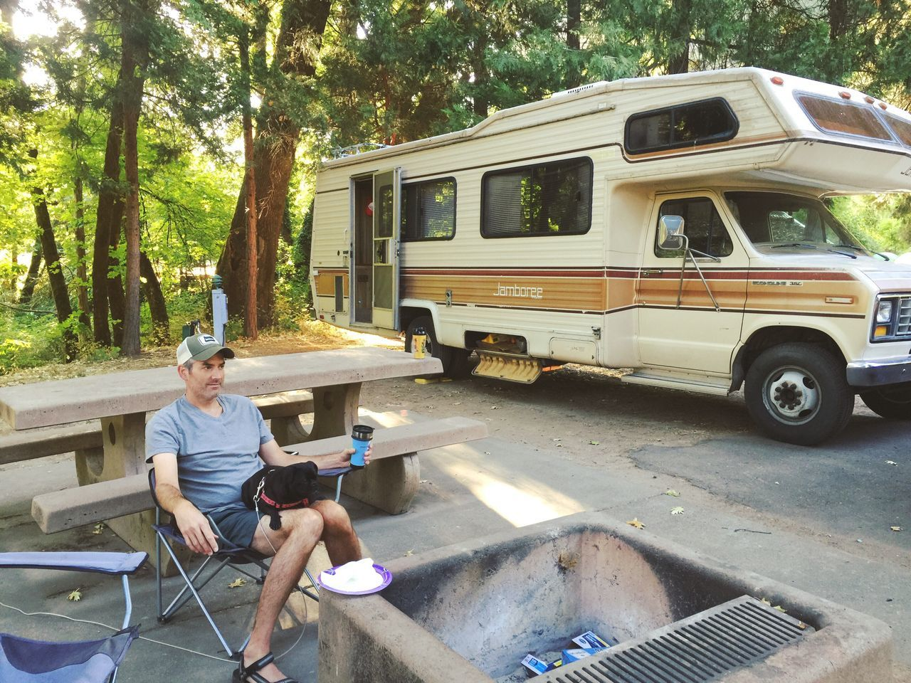 Camp Camping Rv Motorhome Vacation Relaxing Summer Peopleandplaces