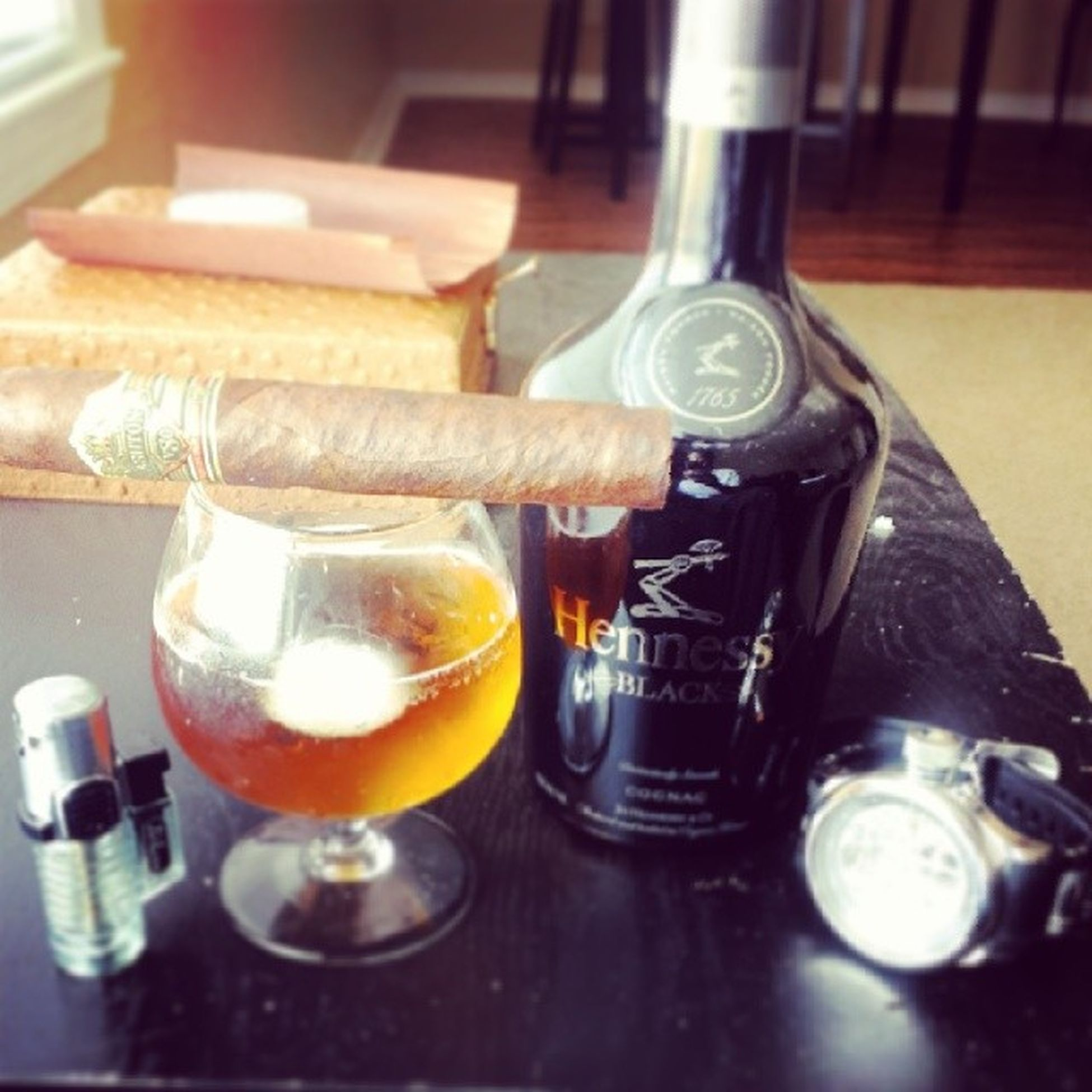 About to chill out for the rest of day Ashton  Henndoggydog Cigarmodel