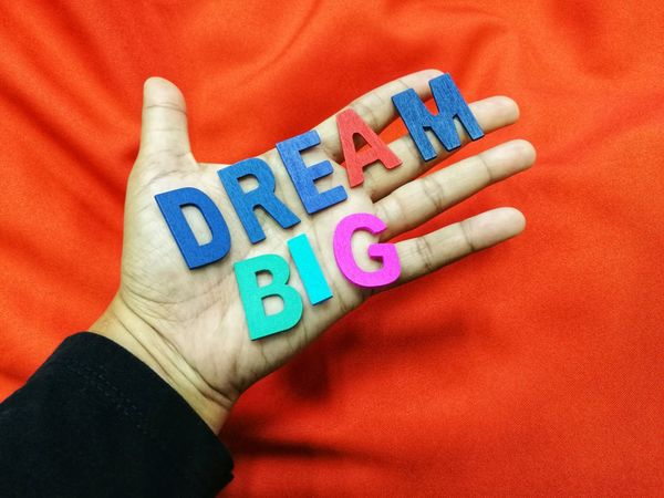 Human Hand Human Body Part One Person Multi Colored People One Man Only Close-up Indoors  Adult Adults Only Only Men Day Dream Big Dream Big ❤ Motivation Alphabet Letters Colorfoul