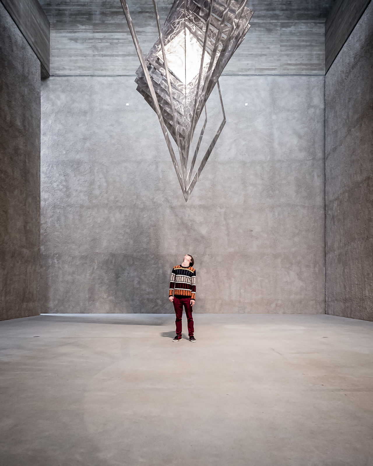 Adult ARCHITECT Architecture Architecture Architecture_collection Architecturelovers Art Gallery Berlin Built Structure Day Epic Full Length Gallery German Indoors  Lookingup Men One Man Only One Person People Scale  Sculpture St Agnes Standing The Architect - 2017 EyeEm Awards