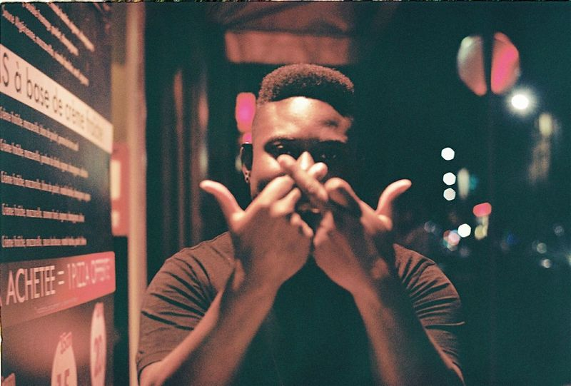 Double Headshot Young Adult Streetphotography Multi Colored IShootPeople Analogue Photography Portrait 35mm Film Film Photography Portra 160 Filmisnotdead Ishootfilm EyeEm Best Shots Bordeaux Blackpeople Thug