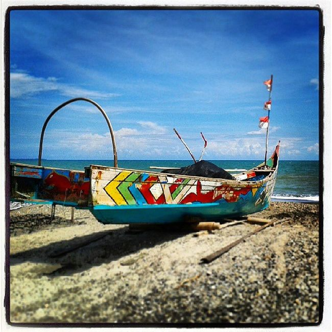 Ship Beach Insatoday Instapic tagforlike holiday ujungtanjung photography instaphoto seascape