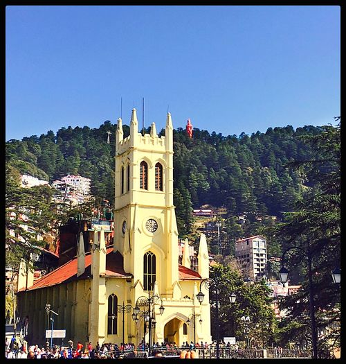 Clear Sky Architecture Place Of Worship Travel Destinations Built Structure Low Angle View Day EyeEmNewHere Sunny'siphoneography Theridgeshimla Christchurchshimla