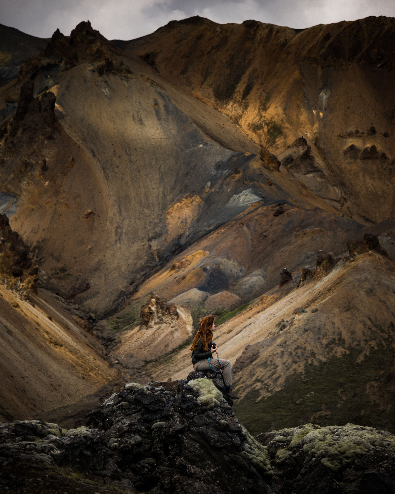 Lost in Landmannalaugar Hiking landscape mountain outdoors no people Nature young adult only women Lost in the Landscape one young woman only one woman only young women Iceland iceland_collection