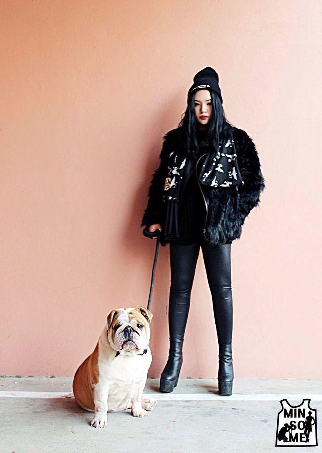 나와 우리핵토르 .민소매촬영 Fashion Dog
