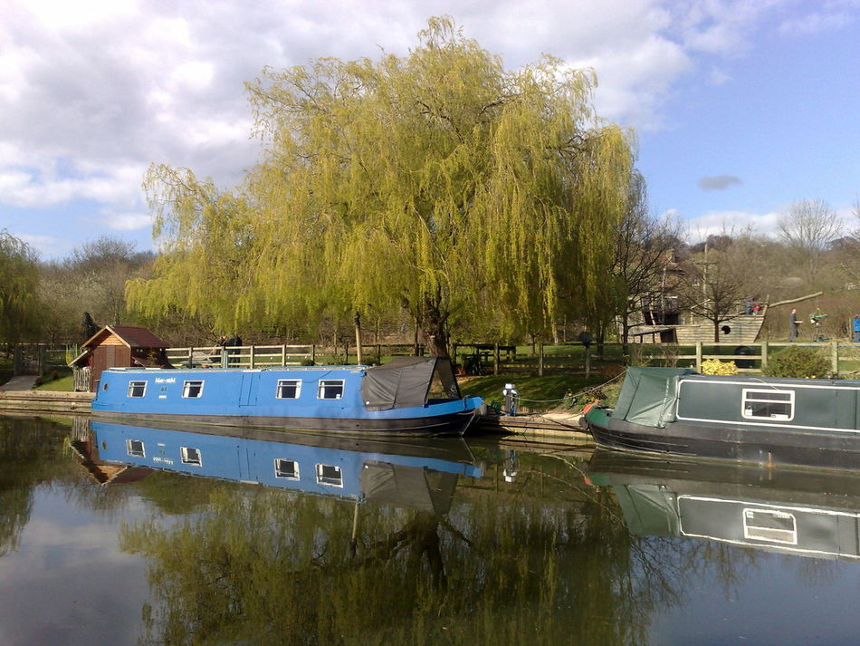 Barge Canal Canals And Waterways Moored Nautical Vessel Outdoors Sky Tree Water