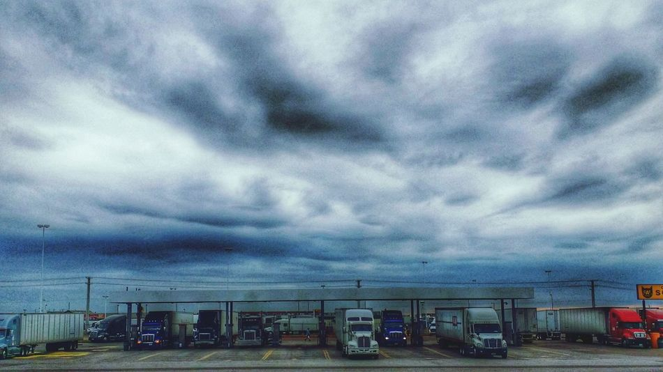 At A Truckstop Clouds And Sky Texas Sky