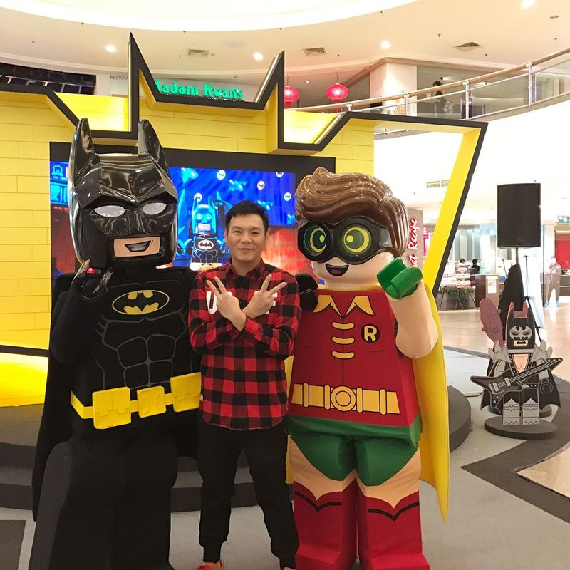 Two People Looking At Camera Portrait Adults Only Standing Happiness Friendship Smiling Indoors  Confidence  Only Men Young Adult People Cheerful Adult Day LEGO LegoBatman Batman