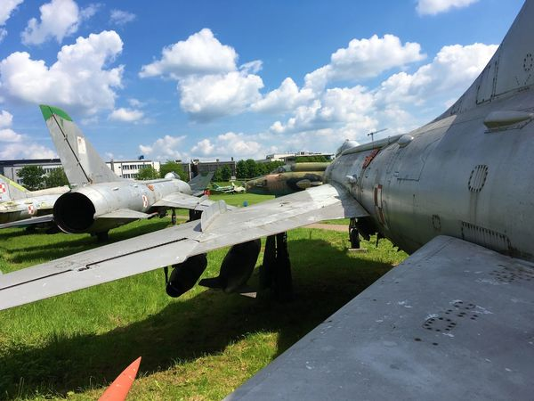 Air Vehicle Airplane Airport Airport Runway Cloud - Sky Cold War Cold War Relic Day Fighter Jet Fighter Plane Jet Engine Migs Nose Outdoors Polish Airforce Polish Military Russian Aircraft Russian Airforces Russian Military Sky Transportation War Planes Winged Wings Wingspan