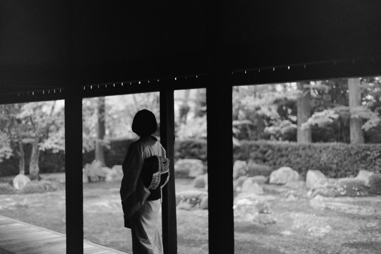 Bw_collection BW Collection EyeEm Gallery Blackandwhite Monochrome Pentax Black & White Oldlens PentaxME Takumar SMC TAKUMAR 50mm F1.4 Takumar Kimono Kyoto,japan Entsuji TENPLES Garden Film Film Photography