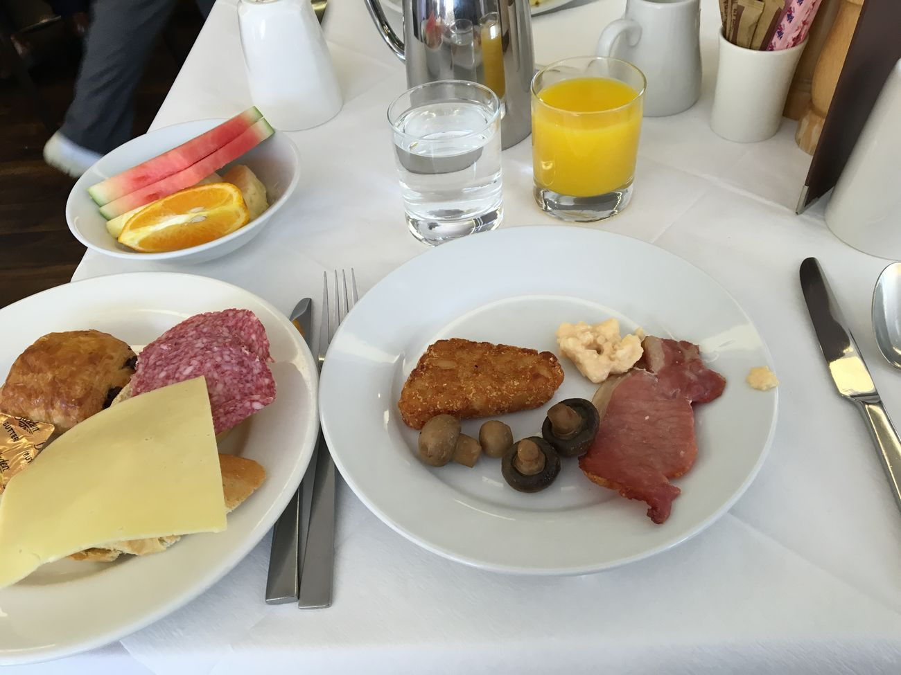 Breakfast English Breakfast Food Food And Drink Freshness Fruits Plate Ready-to-eat Sausage Table Toasted Bread