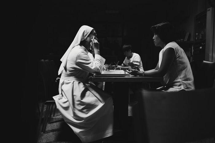 At church today. Church Nun Sister Catholic Lumix Gx7 Confession